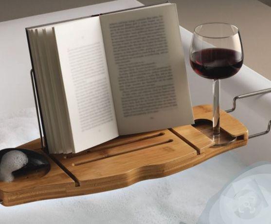 Bambusowa deska podkładka do kapania czytania oglądania kąpiel relaks