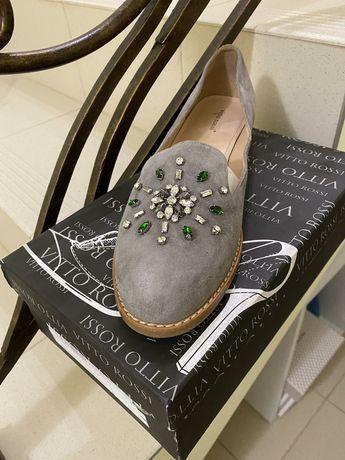 Туфлі замшеві 41 розмір польського бренду Vitto Rossi.