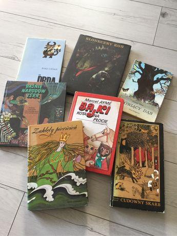 7 książek, super bajek, baśni z różnych stron świata