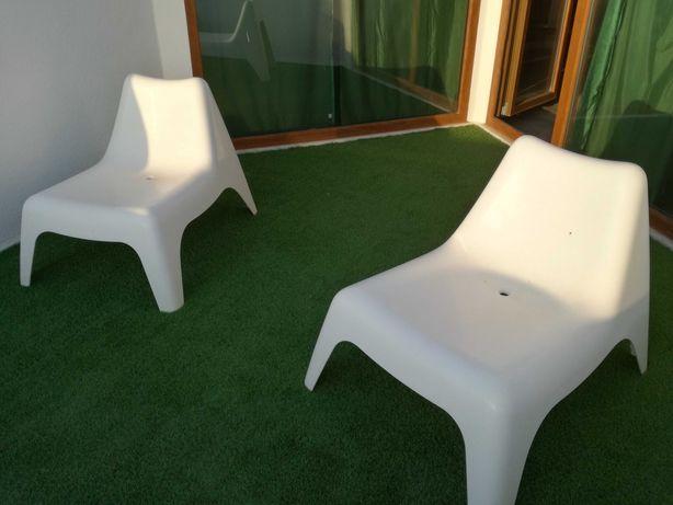 Cadeiras de jardim espreguiçadeira brancas ikea