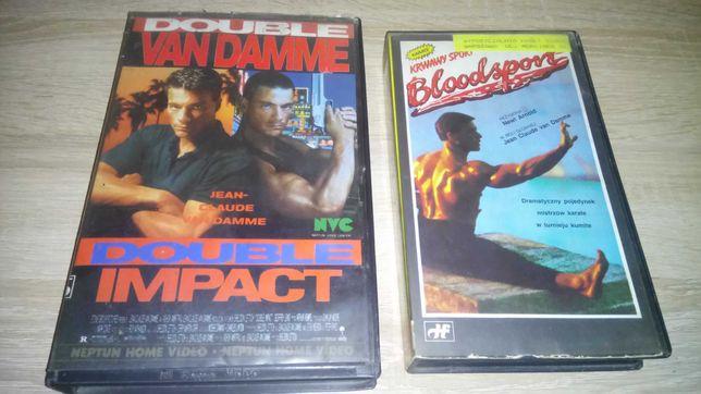 Kasety VHS Krwawy Sport Podwójne Uderzenie Van Damme