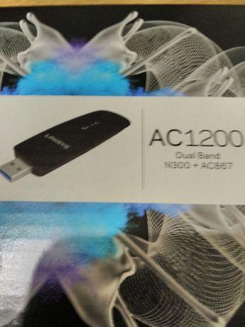 Linksys WiFi AC1200 DualBand USB Novo e selado