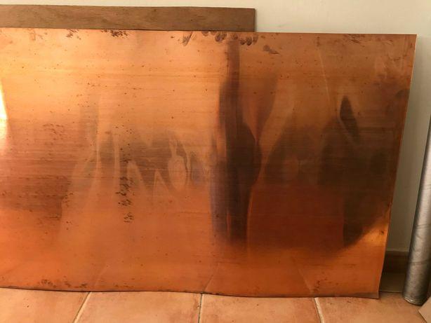 Chapa de cobre grande para bricolage