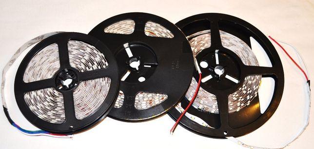 Taśma led RGB mocna 300diód SMD5050/5mb rolka 14,4W/m klej 3M IP20 i 6
