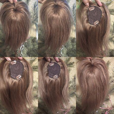 Натуральная накладка 100% Реми русый славянские волосы