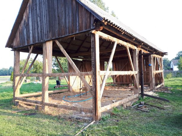 Rozbiorki skup starego drewna stodoła deski
