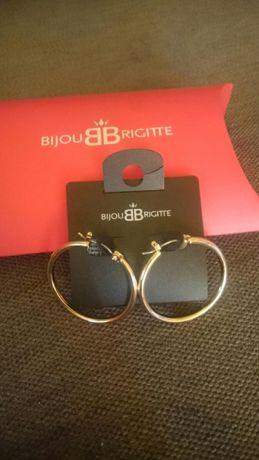 Bijou Brigitte kolor złoty koła kolczyki nowe