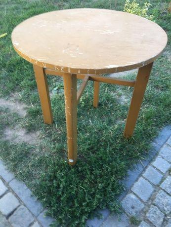 Stół okrągły z Prl-u