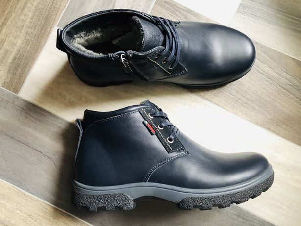 Детские зимние кожаные ботинки