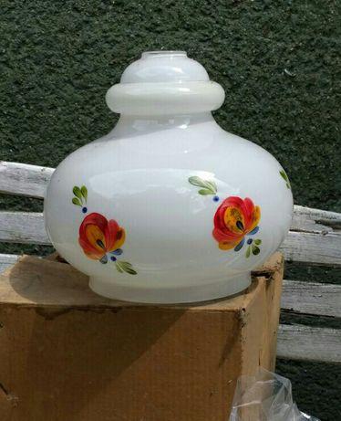 Retro zyrandol lata 70 ręcznie malowane kwiatki cena 170 zl