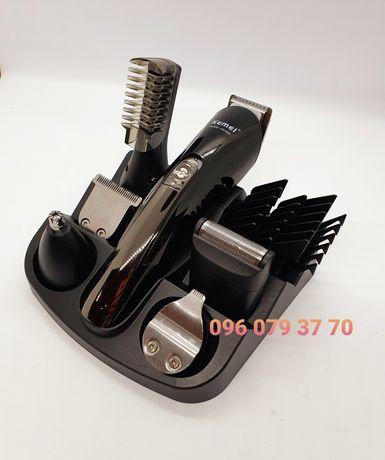 Машинка для стрижки триммер бритва Kemei KM-600 11в1