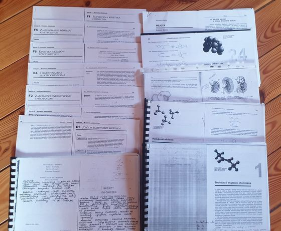 Materiały, skrypty z fizyki, chemii, biologii