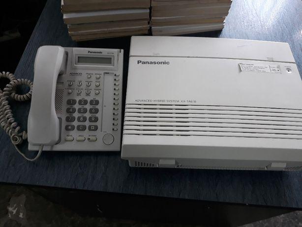 Мини АТС Panasonic KX TA 616 с системным телефоном