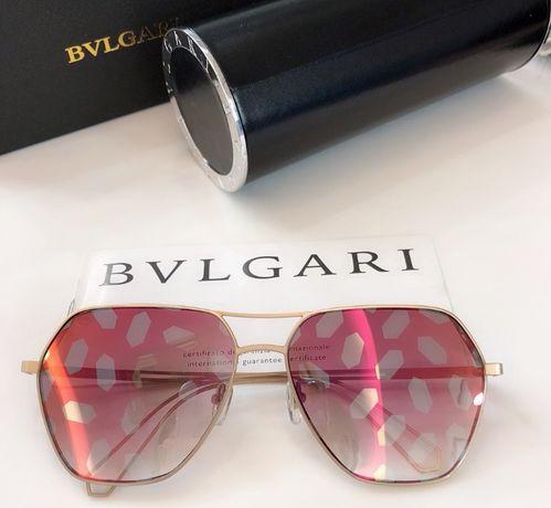 okulary przeciwsłoneczne bvlgari różowe lustrzanki ciapki