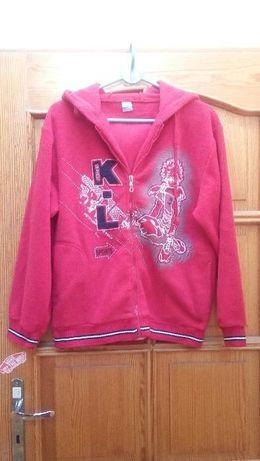 Sprzedam bluza polar czerwony wzrost 152