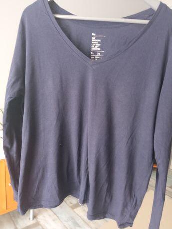 Bawełniana koszulka granatowa Gap L/G z długim rękawem
