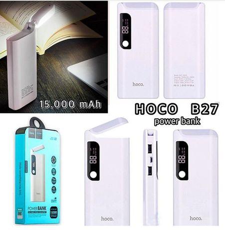 Внешний аккумулятор Hoco B27 Power Bank 15000mAh с фонариком. 1490руб