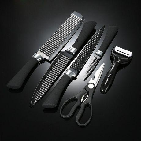 Набор кухонных ножей 6 предметов очень острых KING knife set