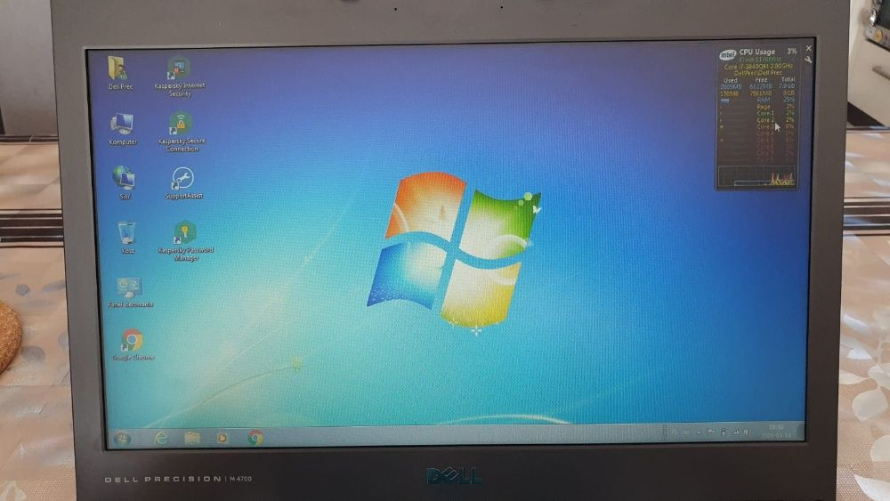 Dell Precision M4700 stacja robocza Laptop SSD+HDD i7 komputer Czempiń - image 1