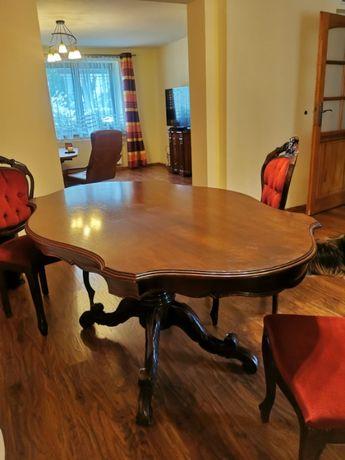 stylowy stół z ozdobną rzeźbioną nogą 172x107x77