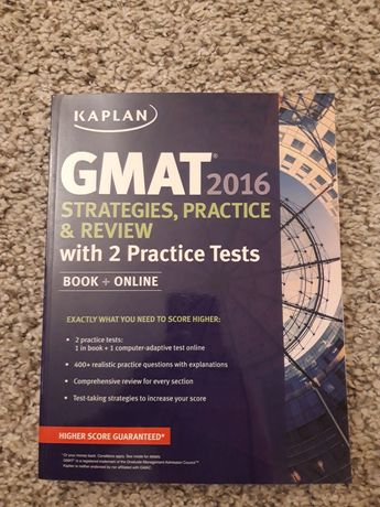 GMAT Kaplan strategies practice and review arkusze