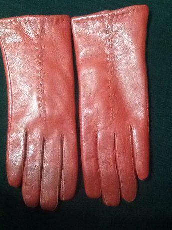 Перчатки  натуральная кожа., теплые