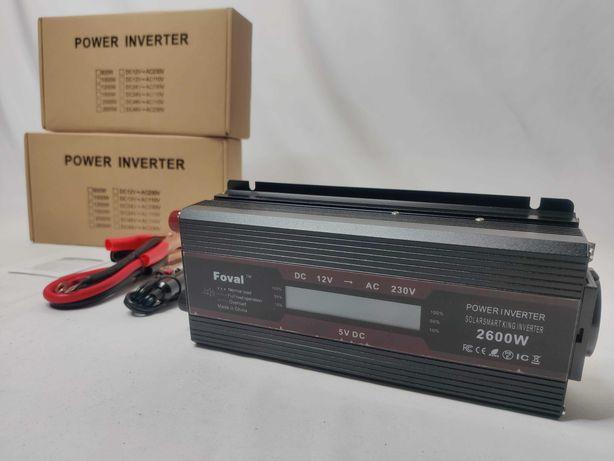 [NOVO] Inversor / Conversor Potência 1100W / 2600W [12V para 220V]
