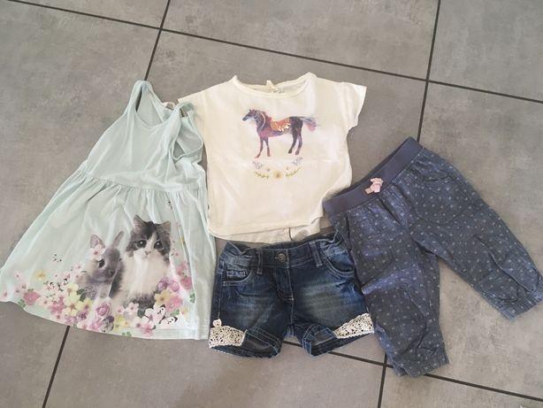 Zestaw na lato szorty sukienka h&m spodenki h&m bluzka Zara