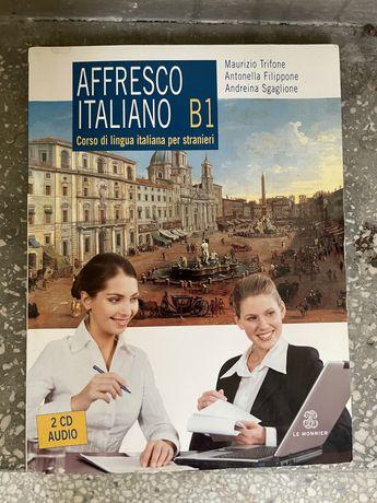 Książka do nauki francuskiego Affresco Italiano B1 + 2 CD