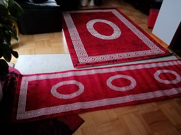 222) Komplet dywanów 290x200 300x80 NOWE