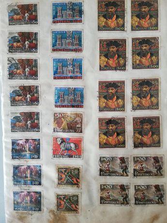 colecção de selos antigos