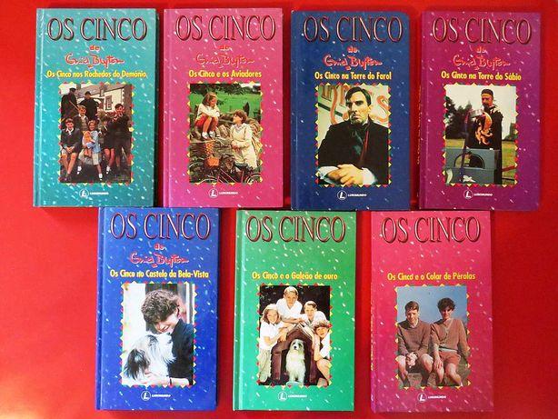 """Coleção """"Os Cinco"""" de Enid Blyton – 7 Volumes"""