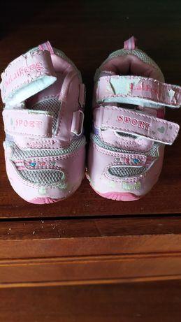 Кросівки дитячі рожеві для дівчинки 22  16.5