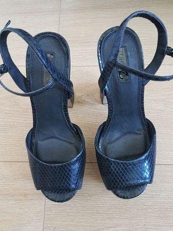Śliczne buty na koturnie rozm 37.5