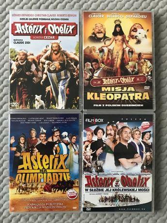 """Asterix i Obelix..."" - 4 DVD (komplet) - polski dubbing"