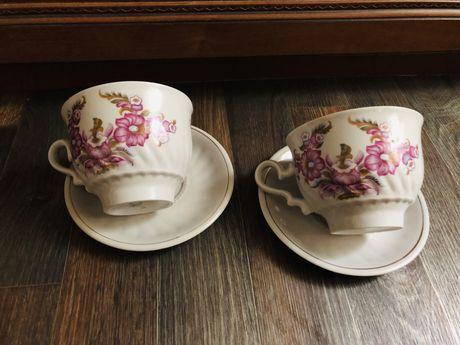 Чайная пара Подарочная большая чашка 600мл фарфор ссср