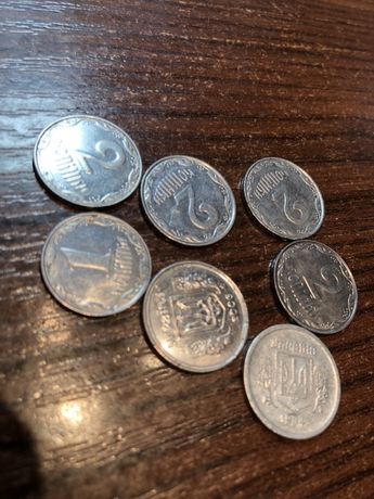 Украинские монеты (1 коп/ 2 коп)