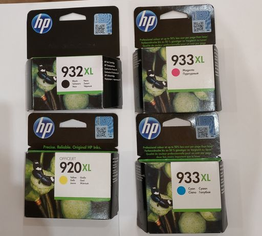 Продам комплект картриджей к струйному принтеру HP. HP 932XL черный, H
