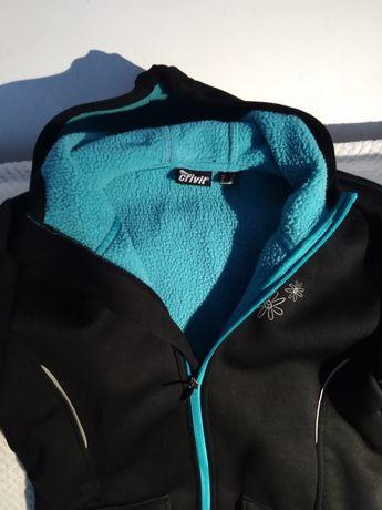 Wiosenna kurtka czarna softshell 158 164