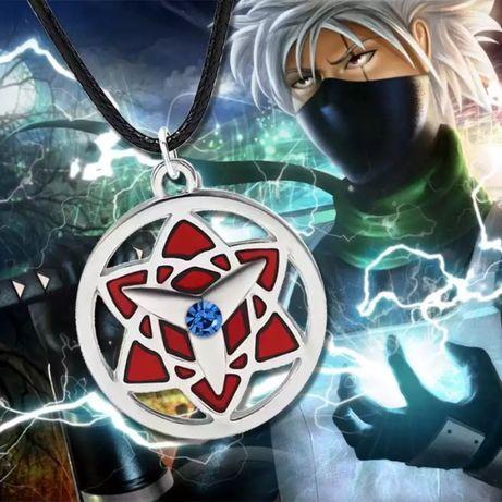 "Кулон аниме Naruto Медальон Наруто ""Вечный Мангекьё Шаринган Саске"""