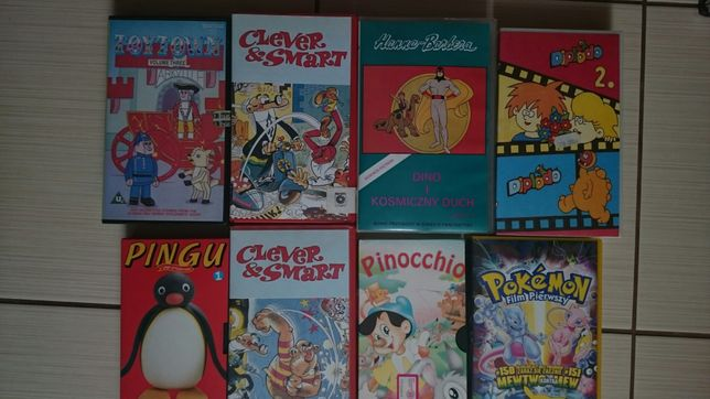 Filmy dla dzieci na kasetach VHS cena za całość