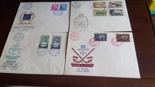 20 envelopes de lº. dia de circulação antigos