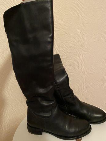 Шкіряні зимові чоботи