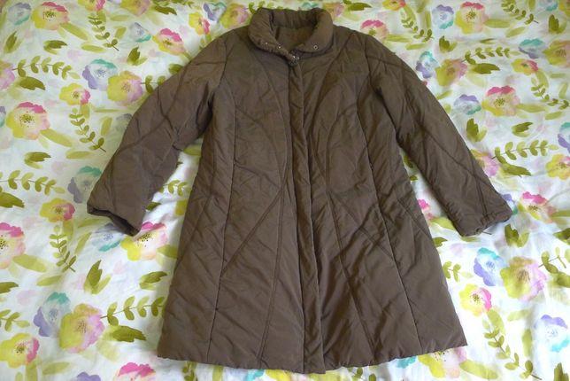 Brązowy pikowany płaszczyk 40