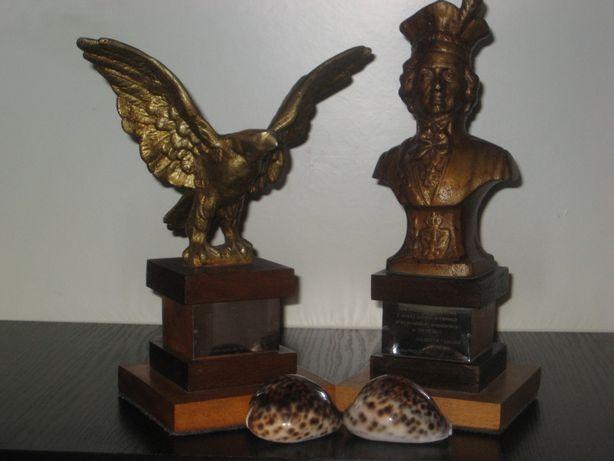 (2шт) Эксклюзив Статуэтка бюст Орел Офицер Польша Скульптура метал