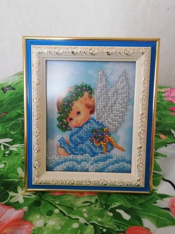 """Картина бисером """"Ангелочек"""". Подарок"""