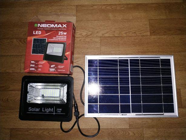 Светодиодный светильник на солнечной батарее IP65 + пульт
