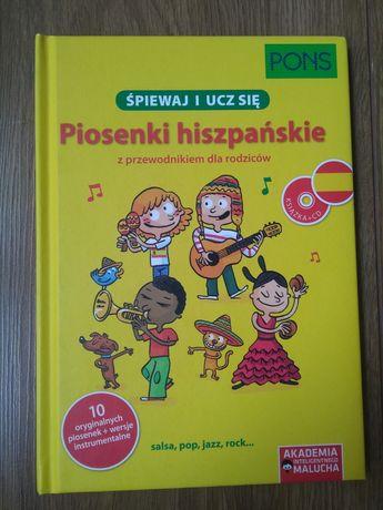 Śpiewaj i ucz się. Słówka i Piosenki hiszpańskie. PONS. Stan idealny.