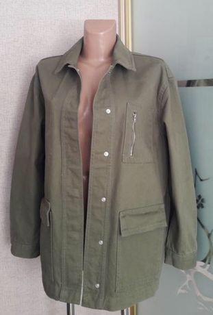Куртка рубашка милитари свободного кроя ,  размер L - XL