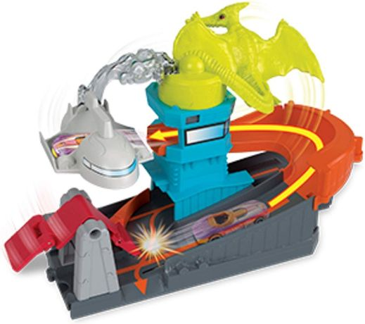 Hot Wheels Атака птеродактиля Ptero Port Attack city Pterodactyl plays